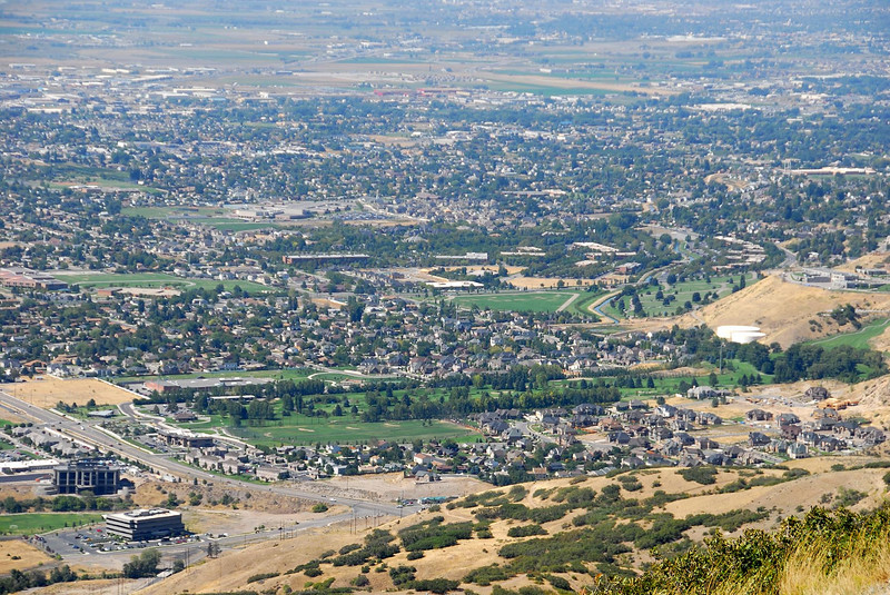 9/11/07 – Up Provo Canyon and then off a side road you can drive to a point called Squaw Peak Overlook. This is the view looking back towards my office and home. My office is the building in the lower left corner – the lowest one. My home is two thirds of the way up on the right hand side of the image, but just barley out of the picture. I have an 8 minute commute to work.