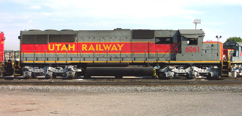 Utah Railway SD50S 6061, right side. (Don Strack Photo)