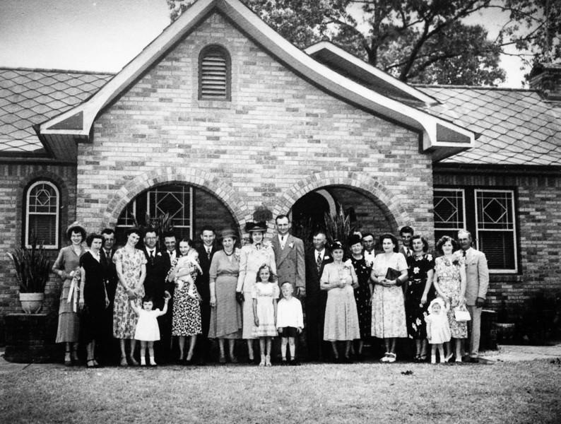 Teddy Jacob and Ed Gutowsky Wedding George and Bertha Jacob home 1102 Omar Houston, Texas