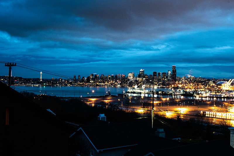 View from the back deck of the rental house in West Seattle.
