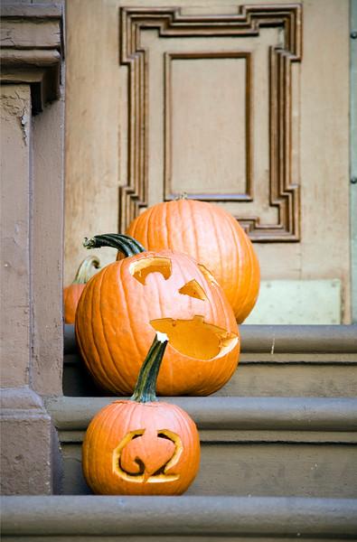 Halloween pumpkins, Greenwich Village, USA