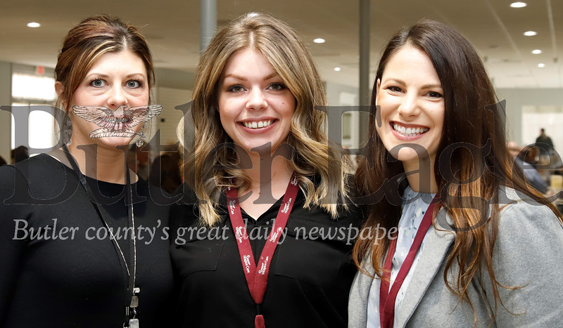 Left to right: Aimee Castor, Brandy Jordan and Melissa Paule with Grane Hospice Care.