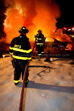 Car fire - Cedar Hill Rd. - New Hackensack Fire District - 3/10/2010