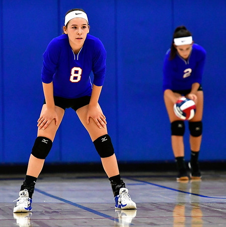 9/27/2018 Mike Orazzi | Staff St. Paul Volleyball's Alexis Carabetta (8) Thursday night in Bristol.