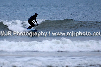 Surfing, Gilgo Beach, NY,  (3-24-07)