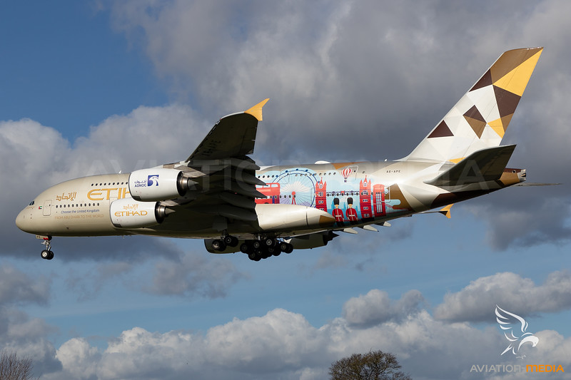 Etihad Airways / Airbus A380 / A6-APE / Choose the United Kingdom