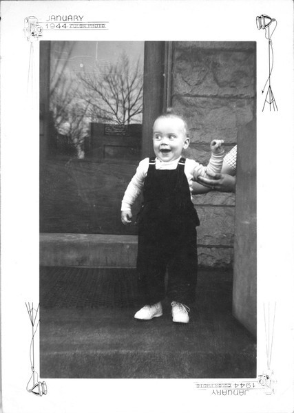 Danny Griffin, son of Wayne and Fern Griffin, age 1 year. Date appears to be January 1944.