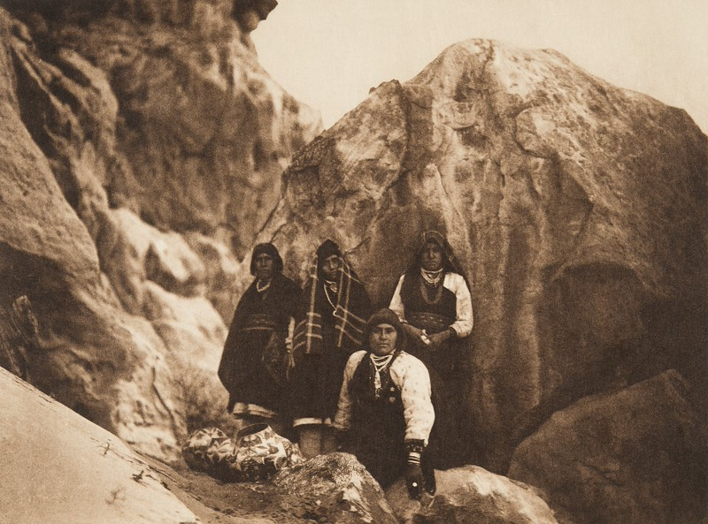 Among the rocks - Acoma (The North American Indian, v. XVI. Norwood, MA, The Plimpton Press,  1926)
