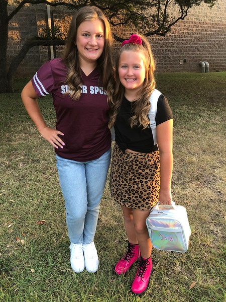 Grace and Olivia | 7th grade and 4th grade | Wiley Middle School and Block House Creek Elementary