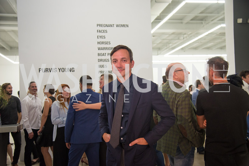 Juan Valadez, Director of the Rubell Collection, Opening Preview of Rubell Collection, Art Basel, Miami Beach, December 2018. Photo by Ben Droz.