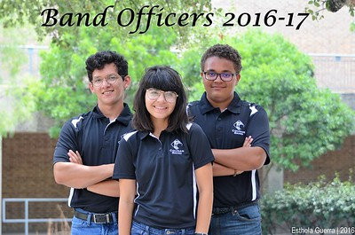 20160811 Band Officers 2016-17