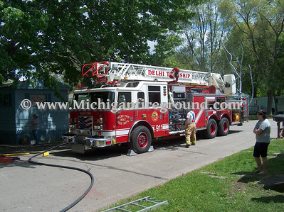 5/20/08 - Delhi Twp mobile home fire, 1470 Flanders