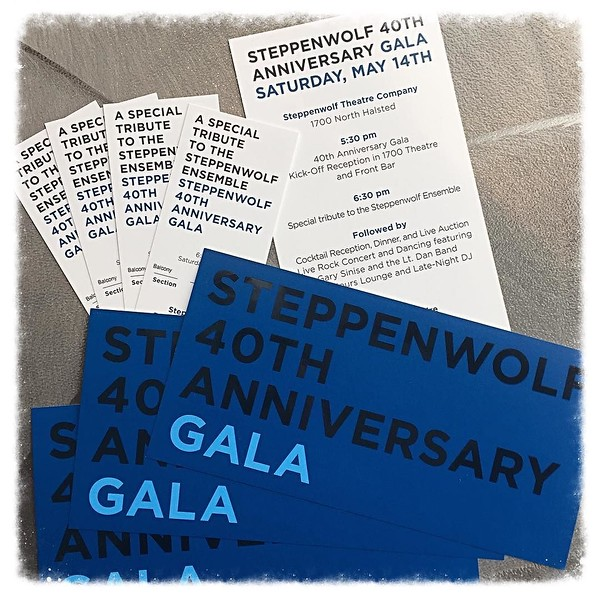 Primping and prepping for a night of fun and frivolity to benefit @steppenwolfthtr