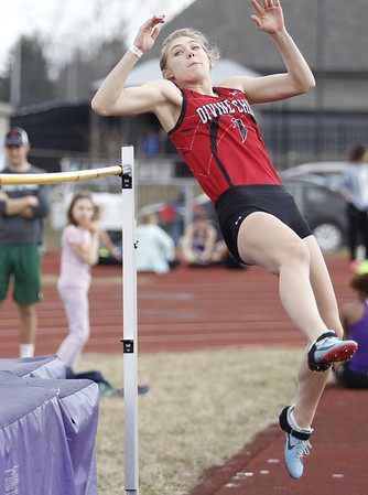 HS Sports - Divine Child track at Ann Arbor Pioneer meet