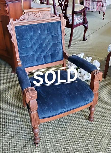 Eastlake Victorian Parlor Chair