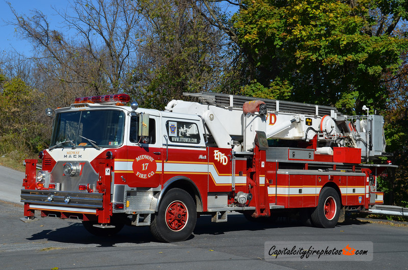 Midway Fire Co., Enola (East Pennsboro Twp) Truck 2-17: 1983 Mack 75' Aerialscope (X-Allentown, PA)