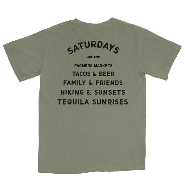 Organ Mountain Outfitters - Outdoor Apparel - Mens T-Shirt - Saturdays are for Farmers Markets Tee - Sage Back.jpg