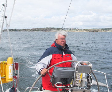 Sweden..Part III. Sailing around Tjörn Island with cousin Gunnar on his fast X-Yacht