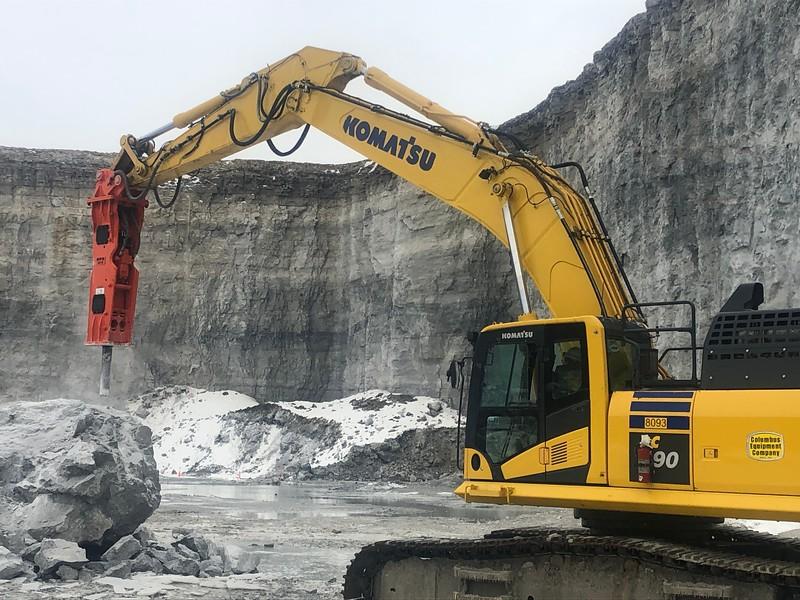 NPK GH15 hydraulic hammer on Komatsu PC490- National Lime, Carey, OH  1-19 (17).jpg