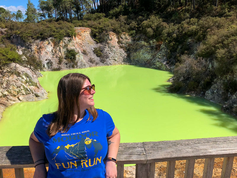Amanda at Devil's Bath at Wai-O-Tapu