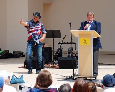 2012 Tax Day Tea Party Singer Bruce Bellott