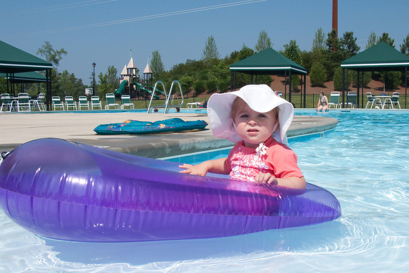 Purple life raft