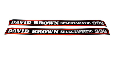 DAVID BROWN 990 BONNET DECAL STICKERS K949207