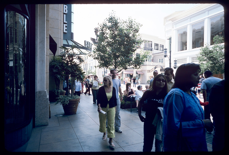 Shoppers at The Grove, Los Angeles, 2004