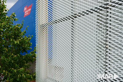 Imar- anodised expanded 3mm mesh Tesco Higham Park London, E4