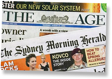 The Age and The Sydney Morning Herald (photo credit: Fairfax Media)