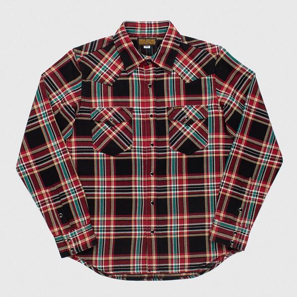 Black Crazy Check Ultra Heavy Flannel Western Shirt-.jpg