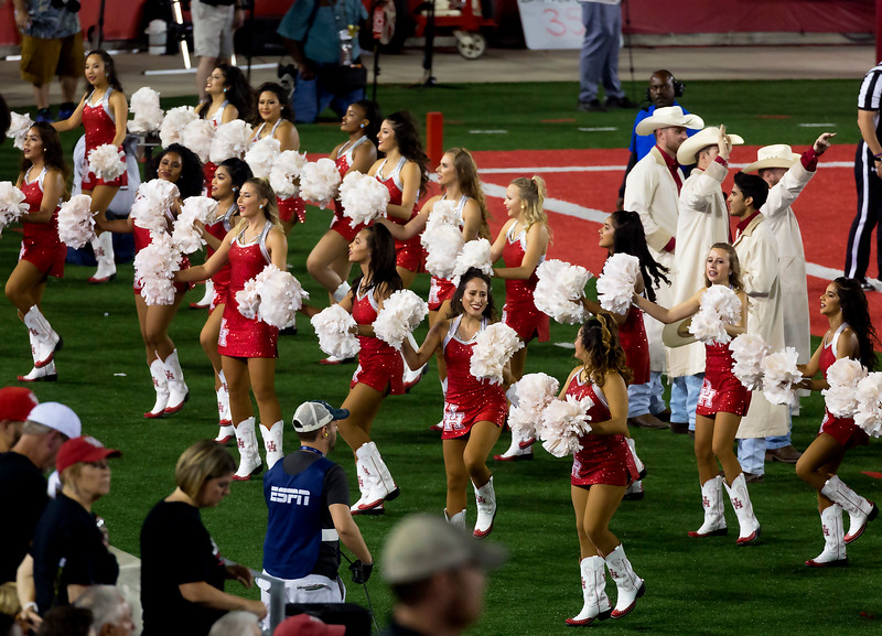 The Cougar Dolls try to stir up the fans.