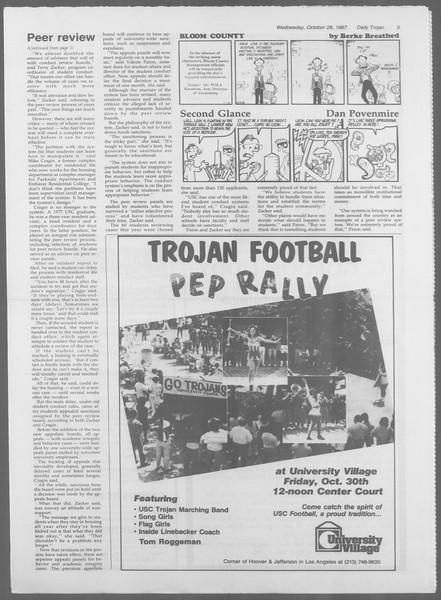 Daily Trojan, Vol. 105, No. 39, October 28, 1987