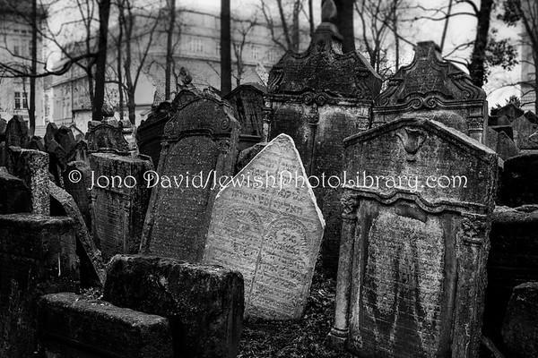 CZECH REPUBLIC, Prague. Old Jewish Cemetery (3.2019)