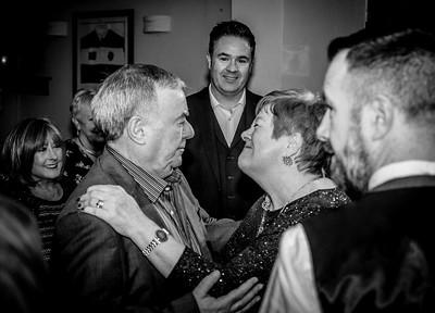 Peter & Georgie Grimshaw 50th Wedding Anniversary in black n white