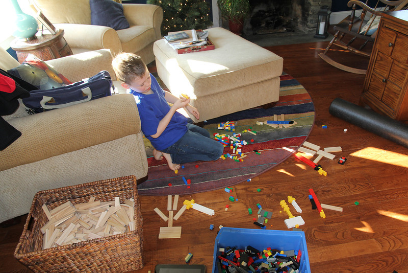 give Aaron some legos and blocks and he's happy!