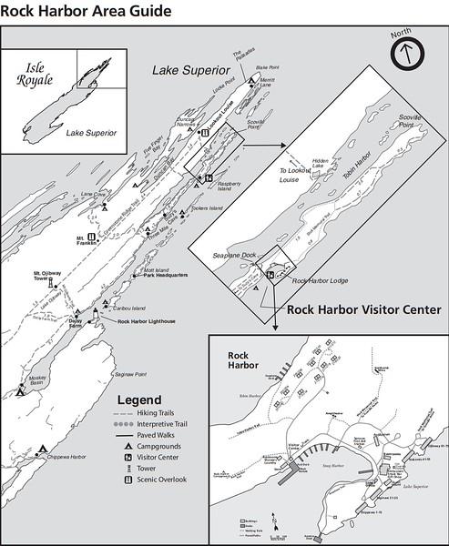 Isle Royale National Park (Rock Harbor Area)