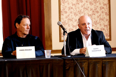 """Atlantic City, NY - October 15:  The panel discussing """"Independent Filmmaking: The Long And Short Of It"""" during the 2011 Atlantic City Cinefest, Atlantic City, USA."""