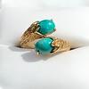 Vintage Bypass Gemstone Ring 10