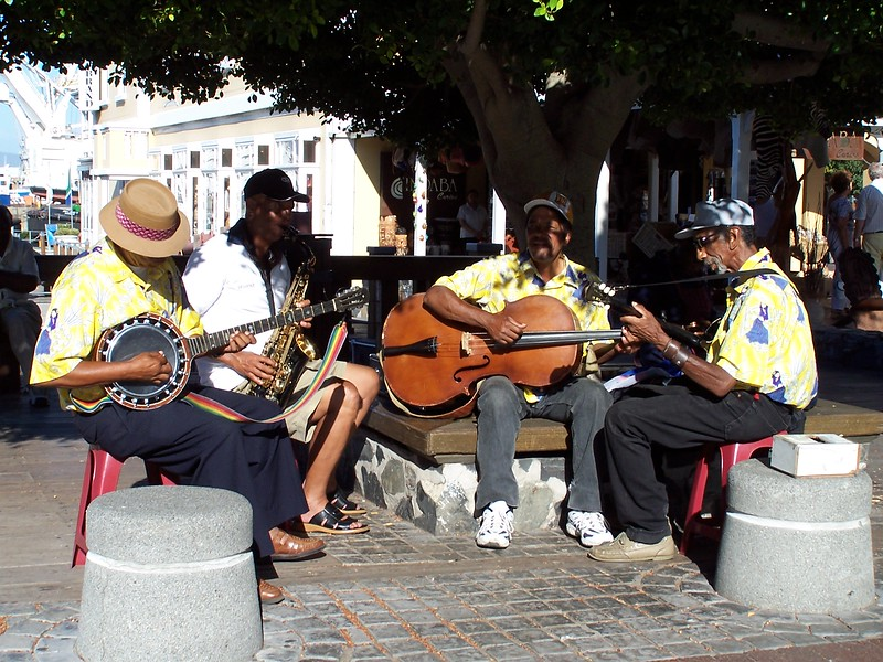 Musicians on the Capetown Pier