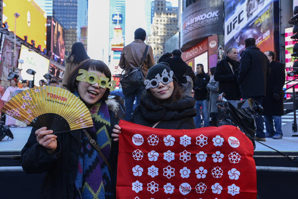 . Japanese New Year Countdown at Times Square on December 31, 2013 in New York City.  (Photo by Eugene Gologursky/Getty Images for Toshiba)