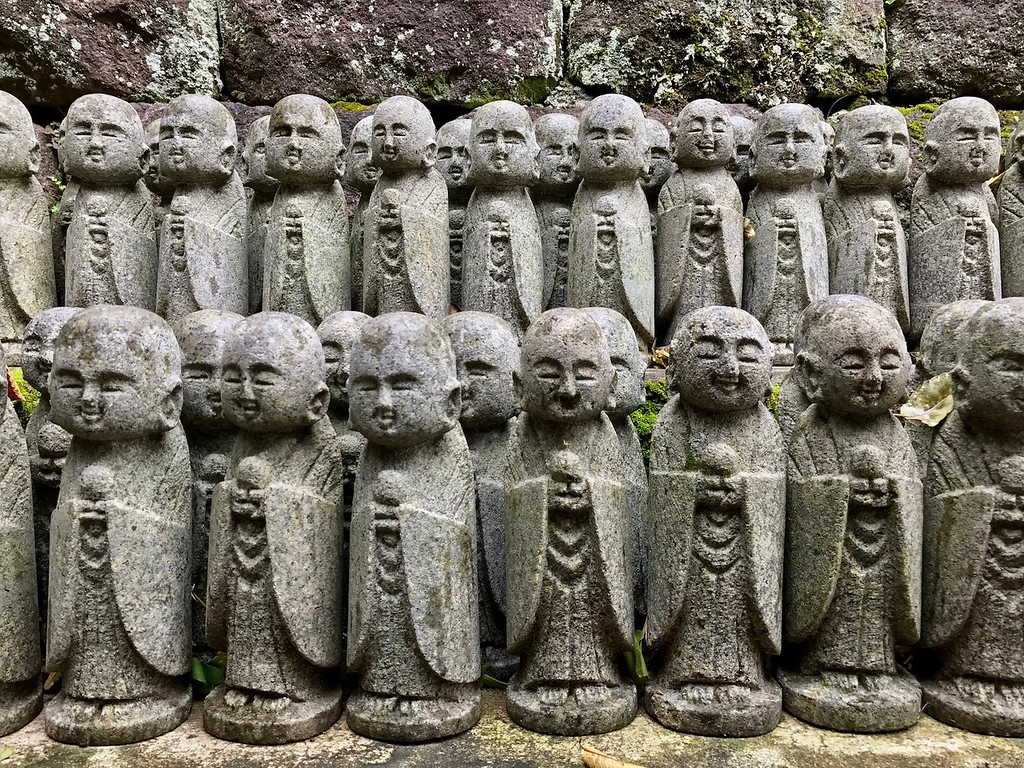 Small statues at Hasedera Temple.