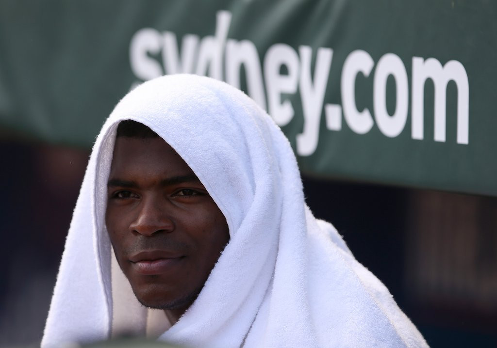 """. <p>10. (tie) YASIEL PUIG <p>Could make it to the All-Star Game this year, if his teammates don�t strangle him first. (previous ranking: unranked) <p><b><a href=\'http://insider.espn.go.com/blog/buster-olney/post?id=5494\' target=\""""_blank\""""> HUH?</a></b> <p>   (AP Photo/Rick Rycroft)"""