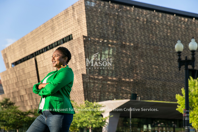 Carla Thomas McGinnis, MA Arts Management '13, Assistant Director of Council Operations and Museum Initiatives - Smithsonian National Museum of African American History and Culture.  Photo by:  Ron Aira/Creative Services/ George Mason University
