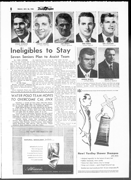 Daily Trojan, Vol. 48, No. 26, October 26, 1956