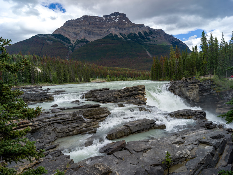 Athabasca Falls, Athabasca River, Icefields Parkway, Jasper, Alberta, Canada