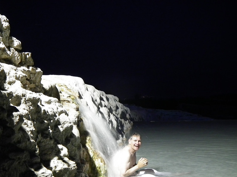 This was the only spot the water was warm.  It also seemed to massage my back.  OMG it was great!
