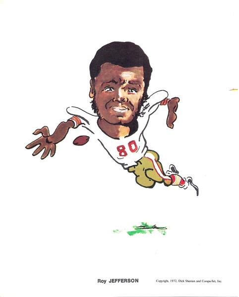 1972 Compu-Set Redskins Roy Jefferson