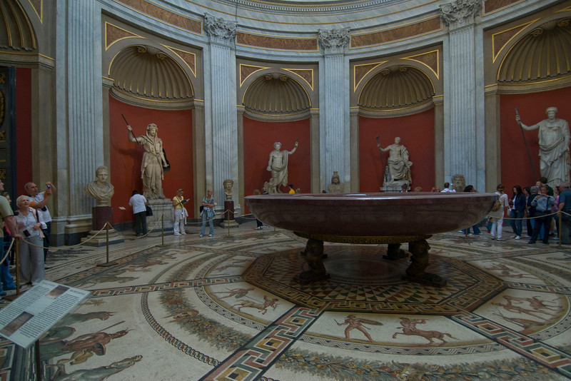 Inside the Vatican Museum in Rome, Italy