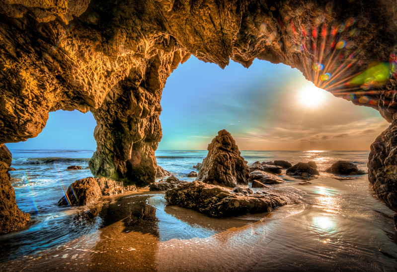 McGucken7 Malibu Blue Sea Cave Sunset.jpg